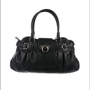 Calfskin safari Ferragamo shoulder bag